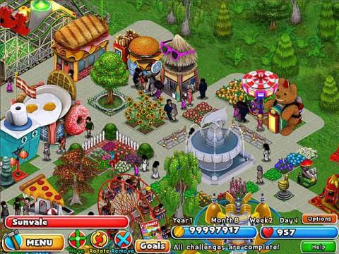 Amusement park builder games online